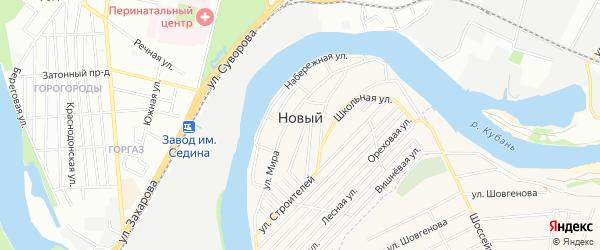 СТ Гигант на карте Нового поселка с номерами домов