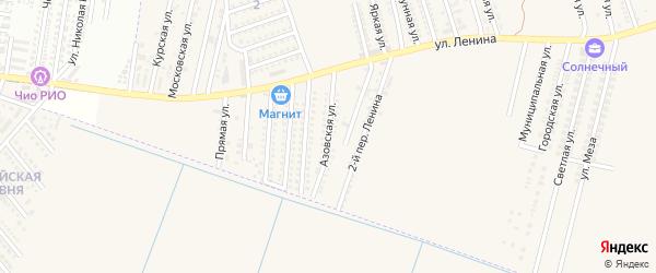 Азовская улица на карте аула Козет с номерами домов