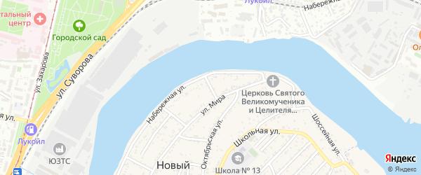 Набережный 1-й проезд на карте Нового поселка с номерами домов