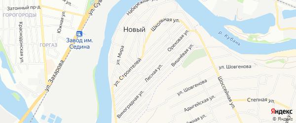 Карта садового некоммерческого товарищества Юбилейного-93 в Адыгее с улицами и номерами домов