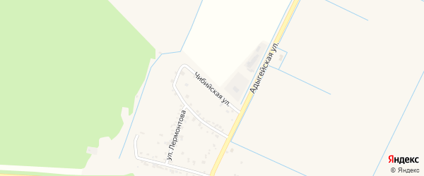 Чибийская улица на карте аула Тахтамукая с номерами домов