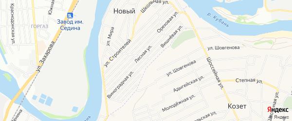Карта садового некоммерческого товарищества Дружба (п Новый) в Адыгее с улицами и номерами домов