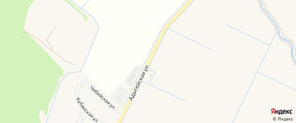 Адыгейская улица на карте садового некоммерческого товарищества Берега Кубани с номерами домов