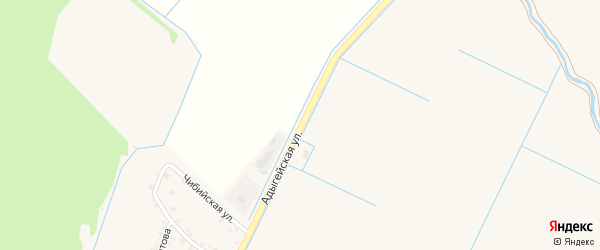 Адыгейская улица на карте аула Тахтамукая с номерами домов