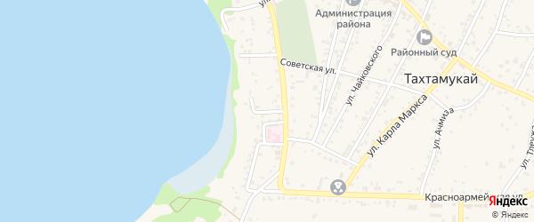 Адыгейский 1-й переулок на карте аула Тахтамукая с номерами домов