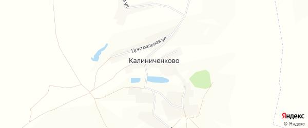 Карта села Калиниченково в Белгородской области с улицами и номерами домов