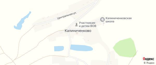 Полевая улица на карте села Калиниченково с номерами домов
