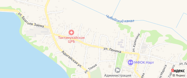 Улица М.Шовгенова на карте аула Тахтамукая с номерами домов
