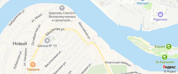 Шоссейная улица на карте Нового поселка с номерами домов