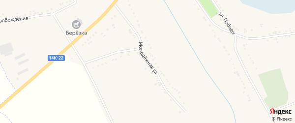 Молодежная улица на карте Нагольного села с номерами домов