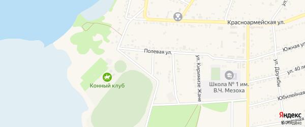 Улица Костанова на карте аула Тахтамукая с номерами домов