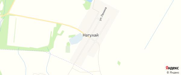 Карта аула Натухая в Адыгее с улицами и номерами домов