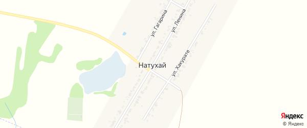 Улица В.И.Ленина на карте аула Натухая с номерами домов