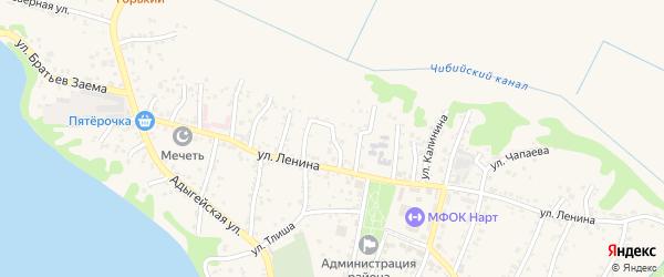 Улица А.С.Пушкина на карте аула Тахтамукая с номерами домов