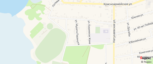 Улица М.Паранука на карте аула Тахтамукая с номерами домов