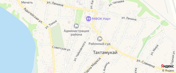 Улица П.И.Чайковского на карте аула Тахтамукая с номерами домов