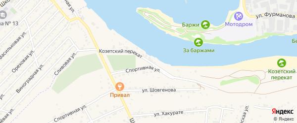 Улица Козетский перекат на карте аула Козет с номерами домов