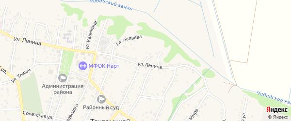 В.И.Ленина 4-й переулок на карте аула Тахтамукая с номерами домов