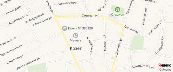 Кольцевая улица на карте аула Козет с номерами домов