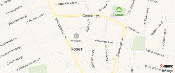 Кольцевая улица на карте садового некоммерческого товарищества Сада с номерами домов