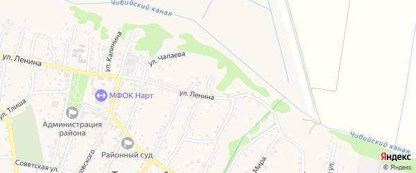 Ленина 5-й переулок на карте аула Тахтамукая с номерами домов