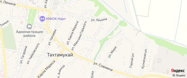 Улица Х.Андрухаева на карте аула Тахтамукая с номерами домов