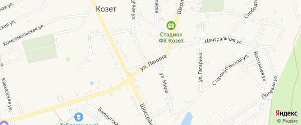 Улица Ленина на карте аула Козет с номерами домов