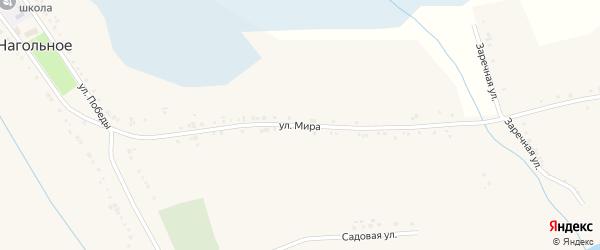 Улица Мира на карте Нагольного села с номерами домов