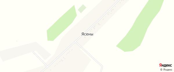 Улица Батлука на карте села Ясены с номерами домов