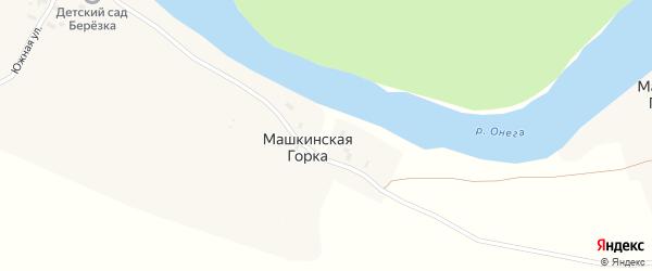Онежская улица на карте деревни Машкинской Горки с номерами домов