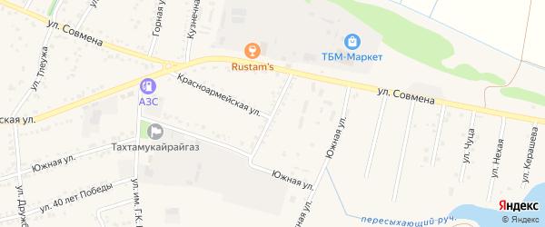 Улица Генерала Карпелюка на карте аула Тахтамукая с номерами домов
