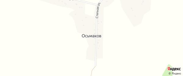Степная улица на карте хутора Осьмакова с номерами домов
