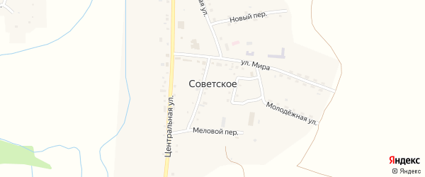 Песчаная улица на карте Советского села с номерами домов