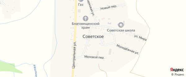 Майская улица на карте Советского села с номерами домов