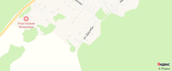 Улица Дружбы на карте деревни Анциферовского Бора с номерами домов