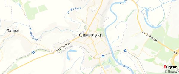 Карта Семилук с районами, улицами и номерами домов