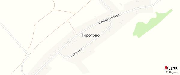 Центральный переулок на карте села Пирогово с номерами домов
