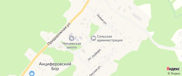 Улица Гончарика на карте деревни Анциферовского Бора с номерами домов
