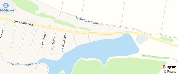 Улица Схаляхо на карте аула Тахтамукая с номерами домов