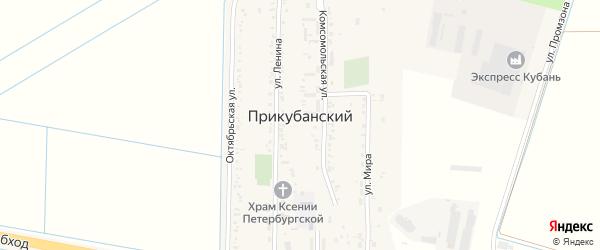 Улица 50 лет Победы на карте Прикубанского поселка с номерами домов