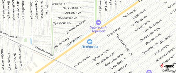 Дорога А/Д Майкоп-Ханская-Белореченск на карте Майкопа с номерами домов