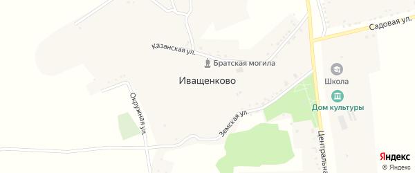Центральная улица на карте села Иващенково с номерами домов
