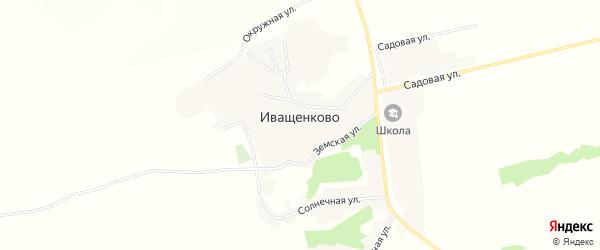 Карта села Иващенково в Белгородской области с улицами и номерами домов