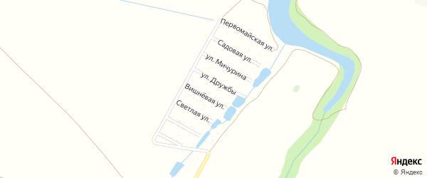 Светлая улица на карте садового некоммерческого товарищества 40 лет СА и ВМФ с номерами домов