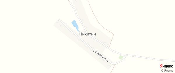 Улица Никитина на карте хутора Никитина с номерами домов