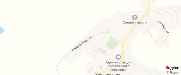 Аэродромная улица на карте Харьковского села с номерами домов