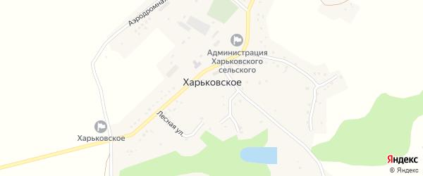 Центральная улица на карте Харьковского села с номерами домов