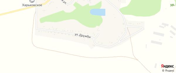 Улица Дружбы на карте Харьковского села с номерами домов