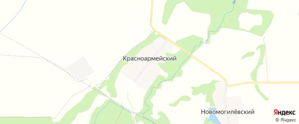 Карта Красноармейского хутора в Адыгее с улицами и номерами домов