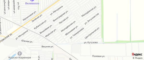 Карта территории СТ Связиста города Улан-Удэ в Бурятии с улицами и номерами домов